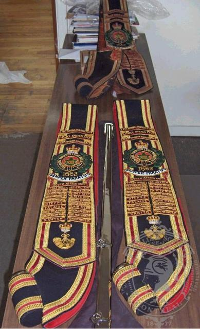Royal Hamilton Light Infantry Sashes (2)