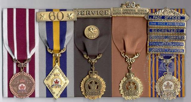 Canadian Legion Medal Mounging