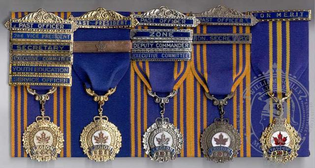 Canadian Legion Medal Mounting