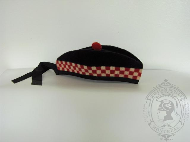 Glengarry cap with red dicing
