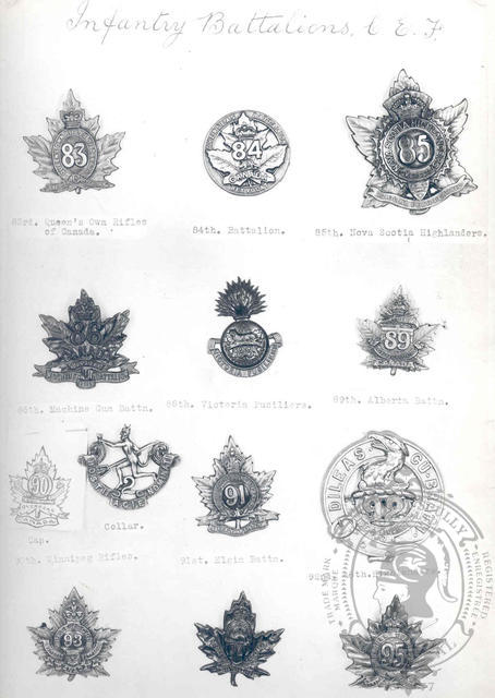 Canadian Expeditionary Force Badges 12
