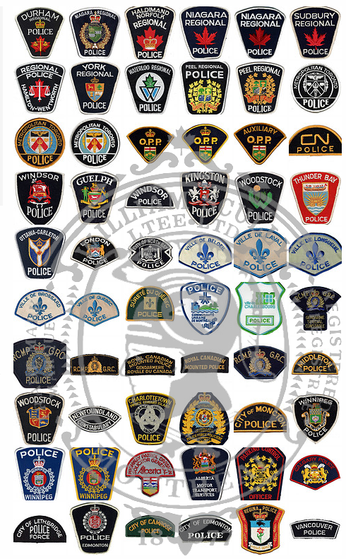 Canadian Police Patches and Flashes