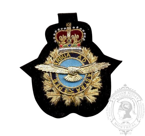 Air Ops Embroidered & Metal Cap Badge