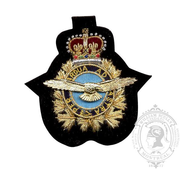 Air Ops Embroidered & Metal Cap Badge