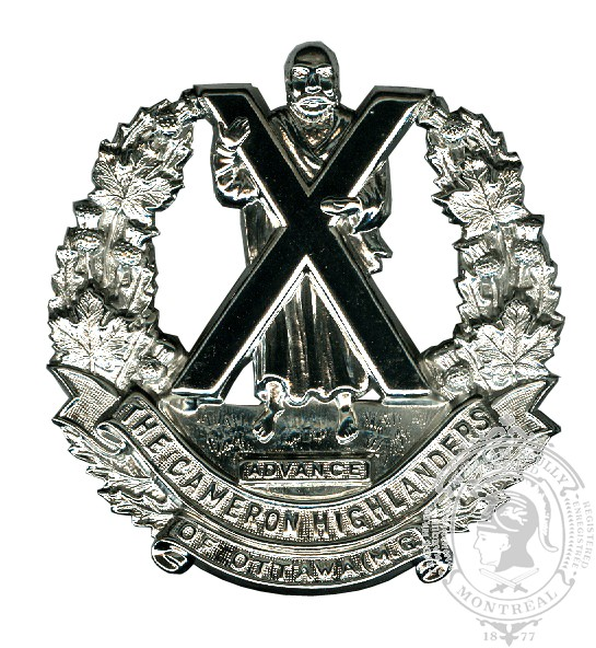 The Cameron Highlanders of Ottawa Cap Badge