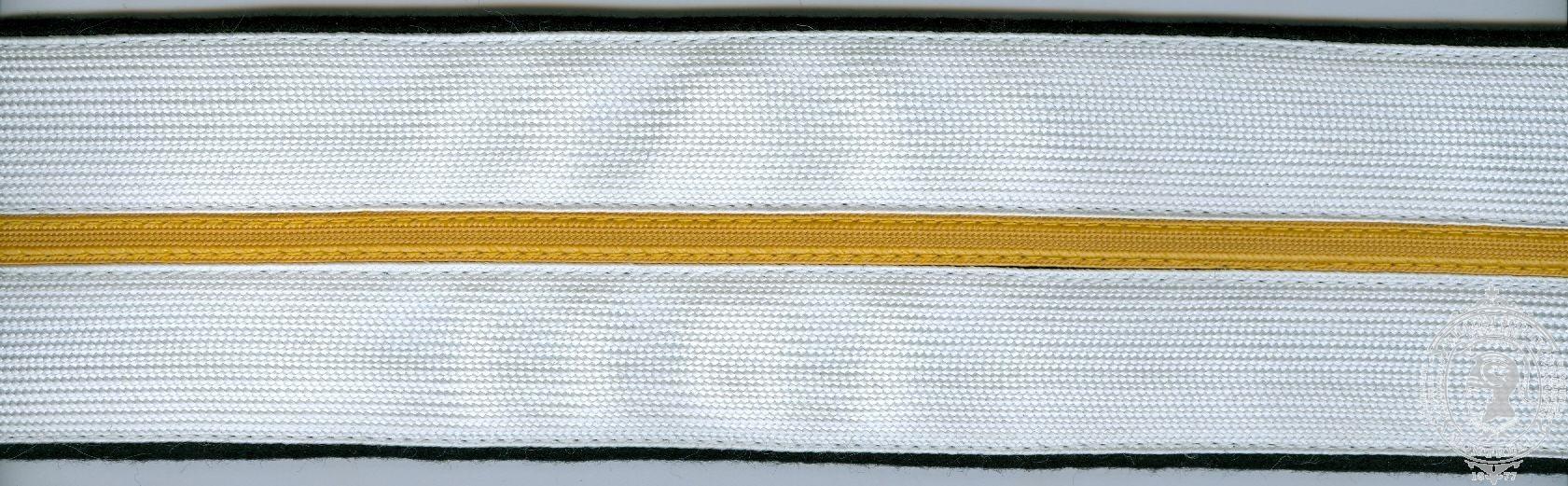 """2-1/4"""" Ceremonial Belt, Fabric, 2 Rows 1"""" Rayon Braid w/ thin band"""