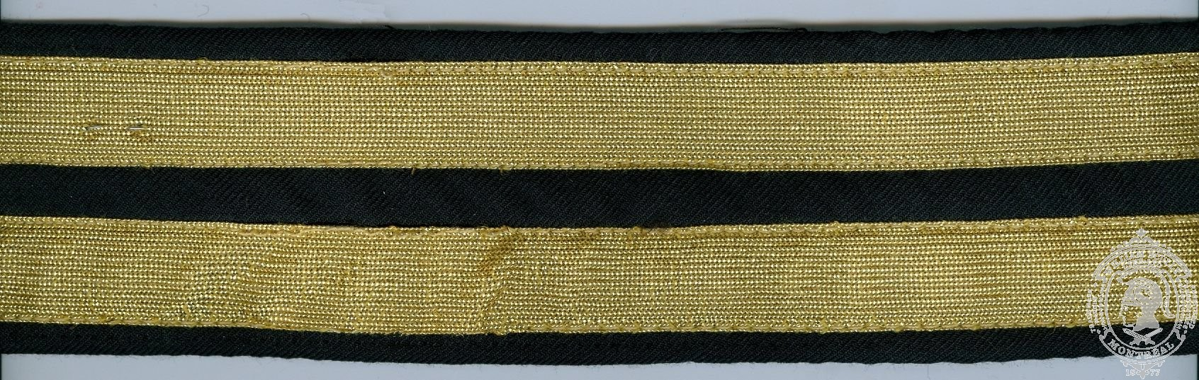 "2-1/4"" Ceremonial Belt, Fabric, 2 Rows 3/4"" Metallic Braid"