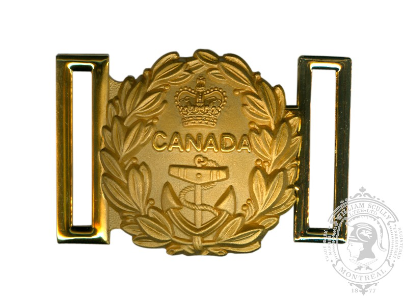Royal Canadian Navy Sword Belt Buckle, Traditional