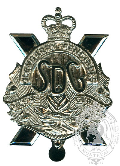 Stormont, Dundas and Glengarry Highlanders Cap Badge