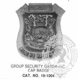 10-1004 Custom Security Guard Company Badge