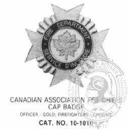 10-1010 C.A.F.C. Cap Badge