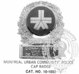 10-1003 Quebec Municipal Police Badge