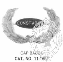 11-10004 Constable Cap Badge
