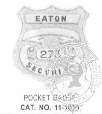 11-1010 Custom Loss Prevention Badge