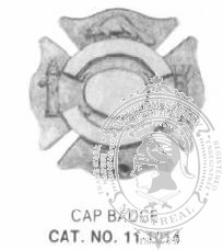 11-1014 Fire Department Cap Badge