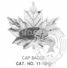 Standard Canadian Security Cap Badge