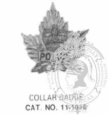 11-1016 Police Collar Badge