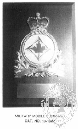 13-1002 Land Forces Retirement Plaque