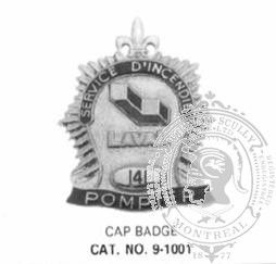 9-1001 Custom Municipal Fire Department Badge