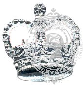 Silver 6-1010 Rank Crown w/ eyelets (pair)