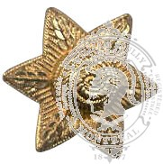 6-Pointed Star 6-1046 w/ eyelets (pair)