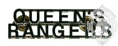 THE QUEEN'S YORK RANGERS REGIMENT SHOULDER TITLES