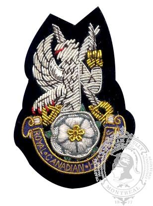 Royal Canadian Hussars Blazer Crest