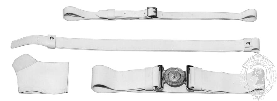 CF White Ceremonial Leather Belt