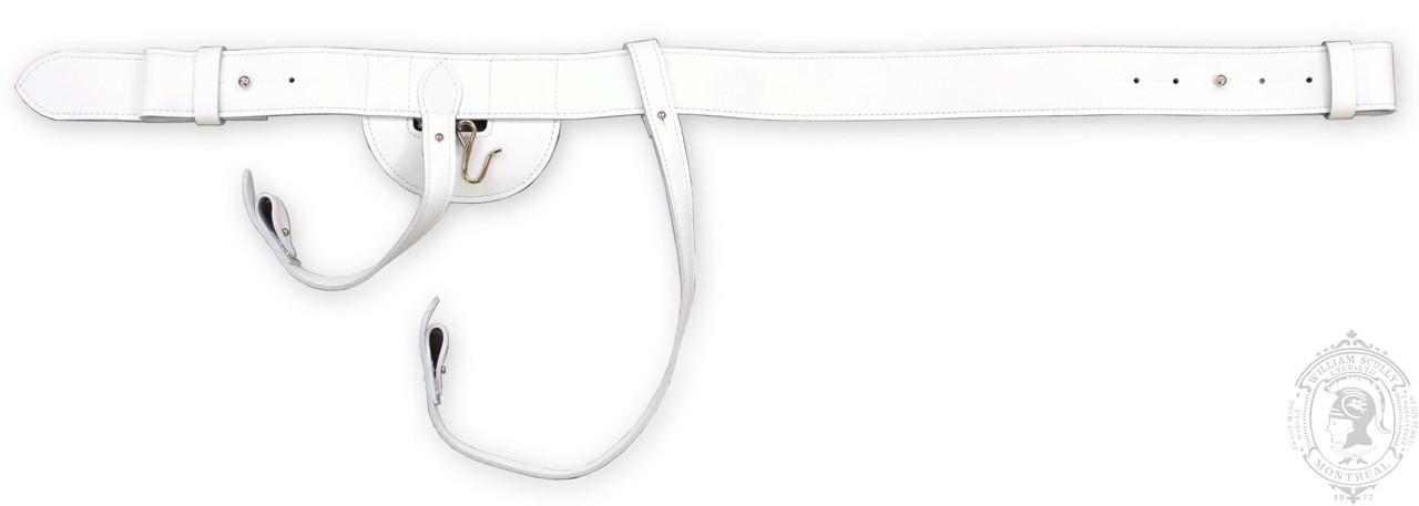 CF Regulation Sword Belt, White Leather