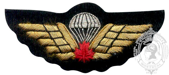 Embroidered Parachutist Jump Wings, Red