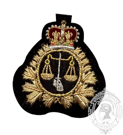 Legal Embroidered Beret Badge