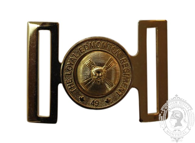 49TH BATTALION, THE LOYAL EDMONTON REGIEMENT INTERLOCKING BUCKLE