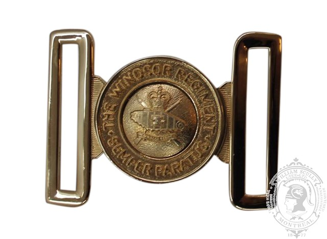 THE WINDSOR REGIMENT (RCAC) INTERLOCKING BUCKLE