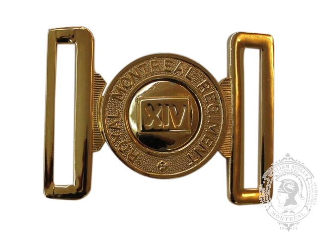 THE ROYAL MONTREAL REGIMENT INTERLOCKING BUCKLE