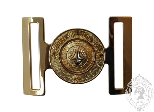 THE LINCOLN AND WELLAND REGIMENT INTERLOCKING BUCKLE