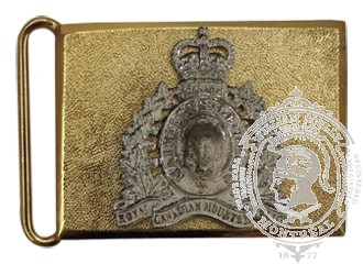 ROYAL CANADIAN MOUNTED POLICE CEREMONIAL BUCKLE STYLE 1