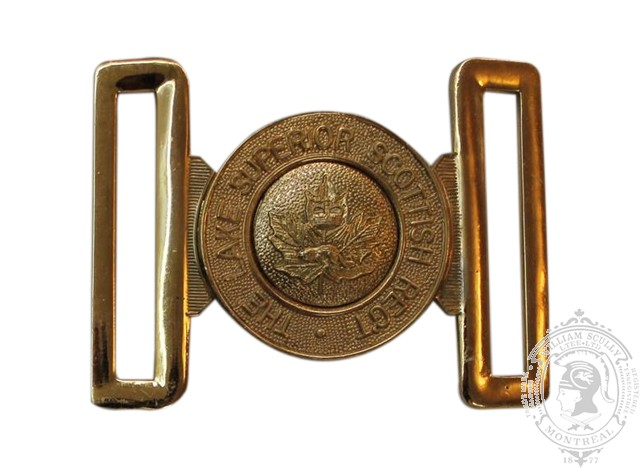 THE LAKE SUPERIOR SCOTTISH REGIMENT INTERLOCKING BUCKLE