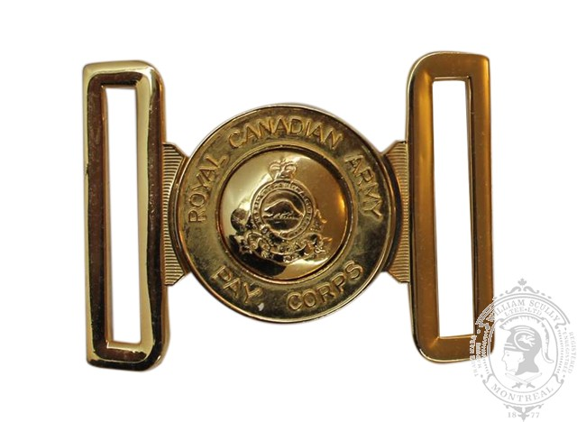ROYAL CANADIAN ARMY PAY CORPS INTERLOCKING BUCKLE