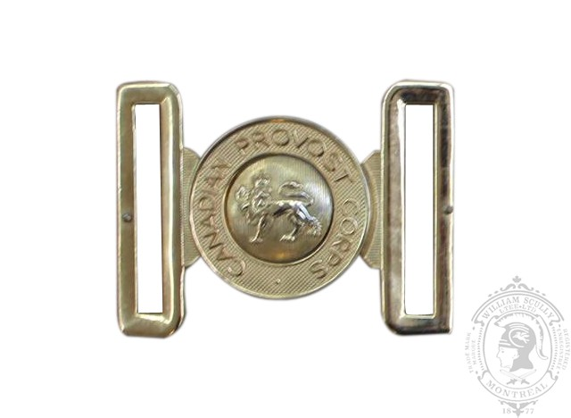 CANADIAN PROVOST CORPS INTERLOCKING BUCKLE