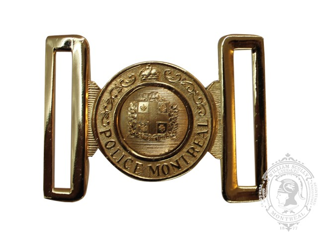 MONTREAL POLICE INTERLOCKING BUCKLE