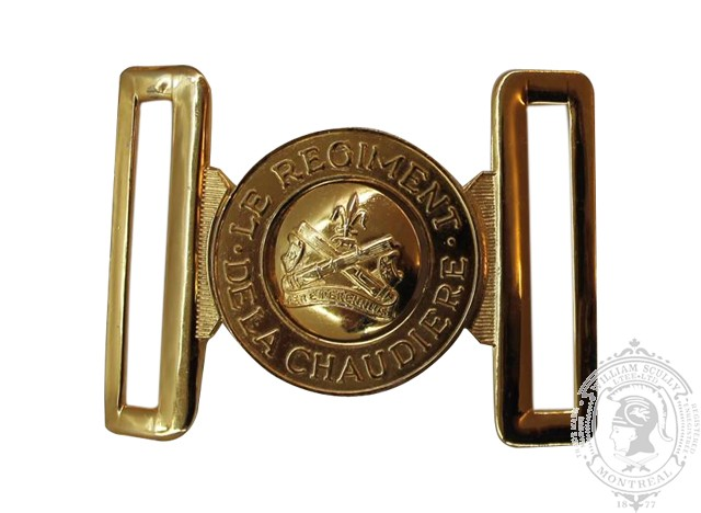 LE RÉGIMENT DE LA CHAUDIÈRE INTERLOCKING BUCKLE