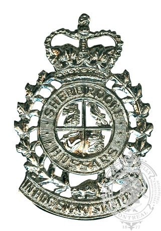 Sherbrooke Hussars Cap Badge
