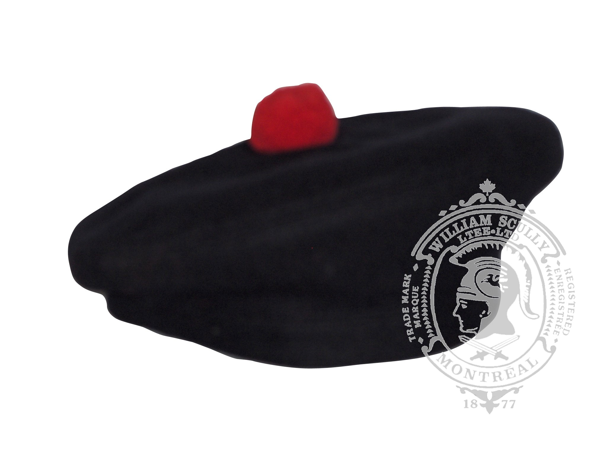 Beret Balmoral with red torrie (Black Watch)