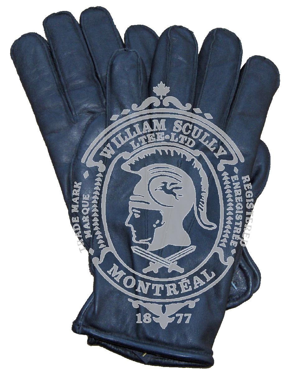 Black Leather Uniform Gloves, Lined
