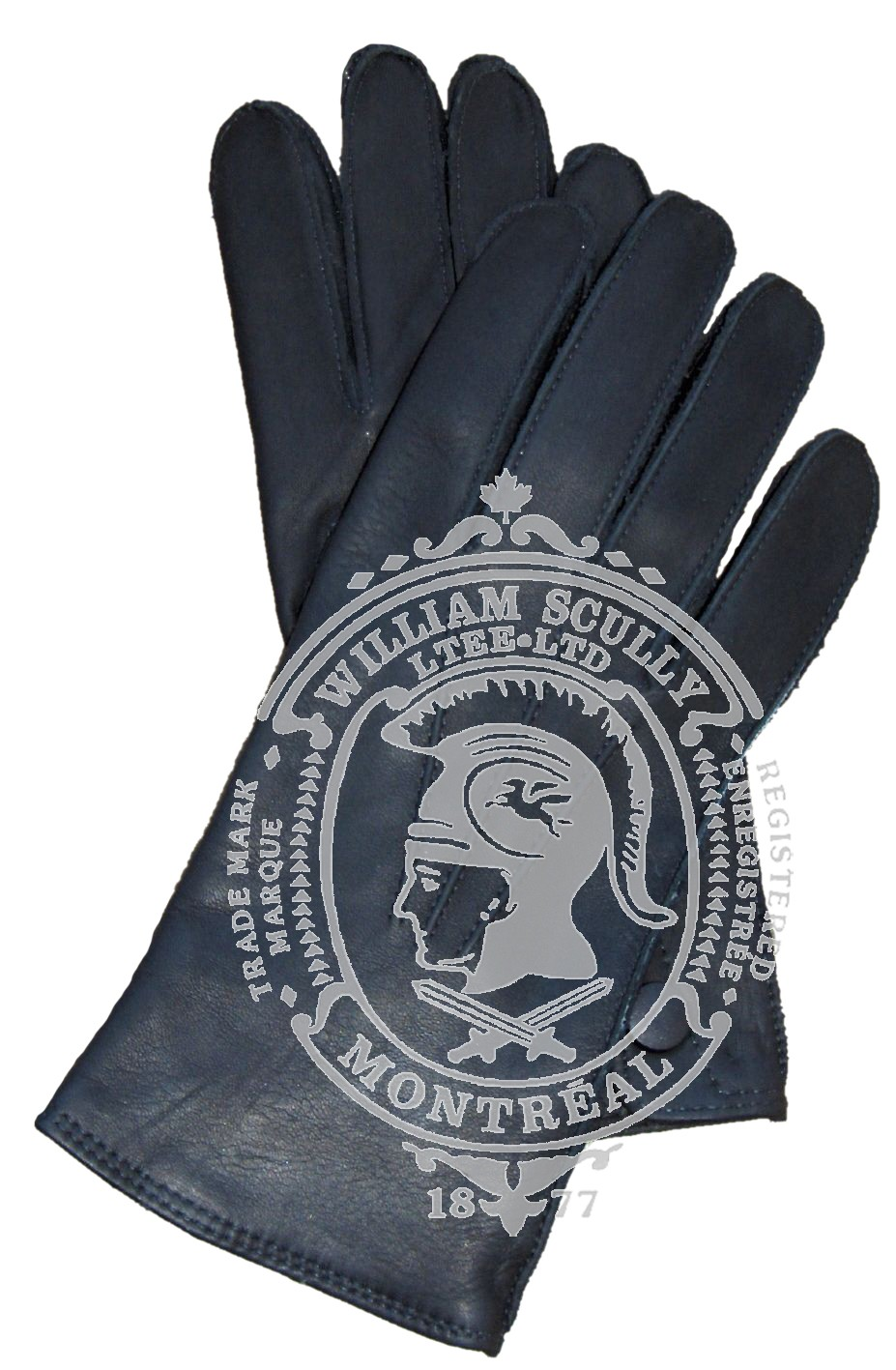 Black Leather Dress Gloves, Unlined