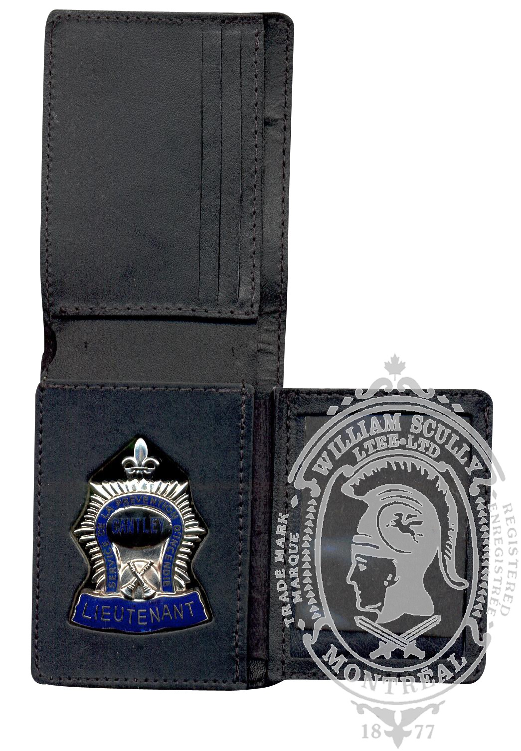 Leather Wallet for Firefighter Badge