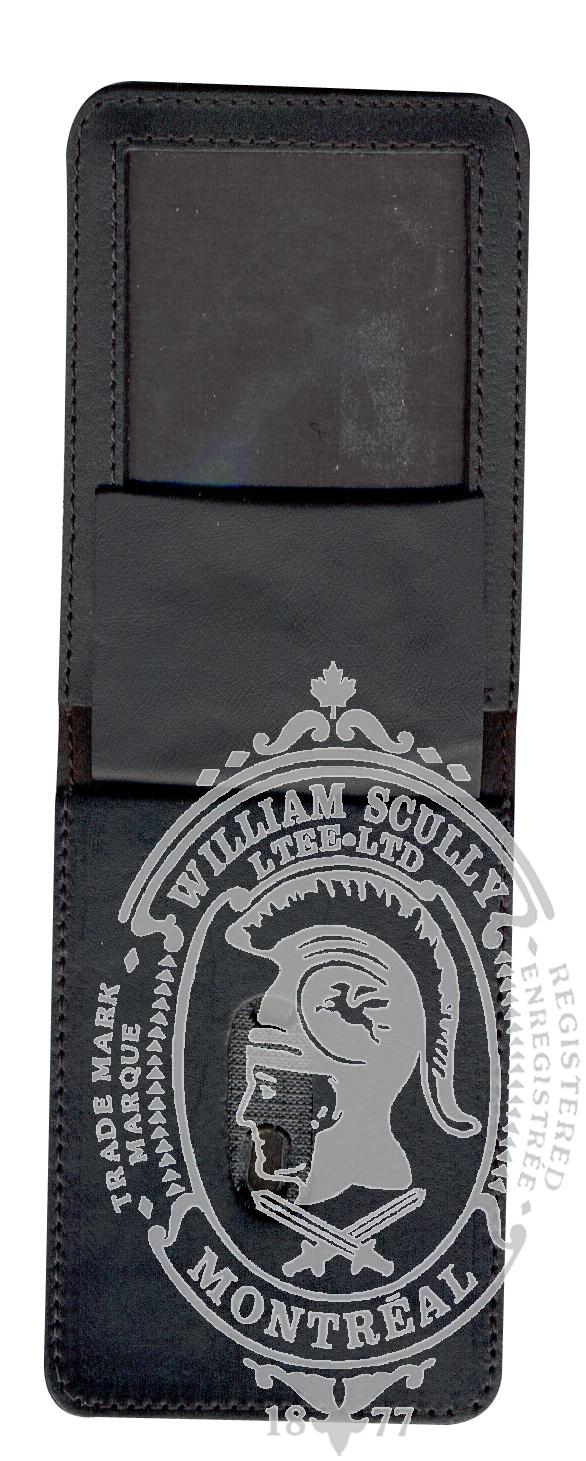 Leather Badge Case (Vertical flip)
