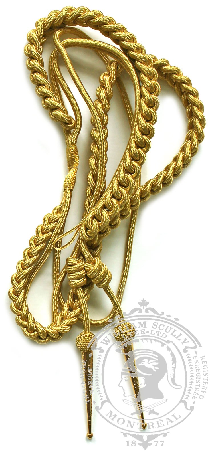 Synthetic Gold Aiguillette