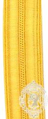 14mm Gold Naval / Fire Braid (mtr)