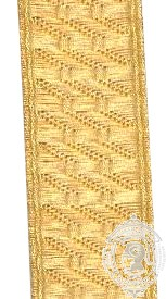 19mm Gold BNS Braid (mtr)